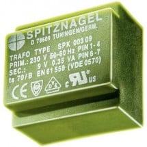 Spitznagel SPK 03818 Trasformatore per PCB 1 x 230 V 1 x 18 V/AC 3.8 VA 211 mA