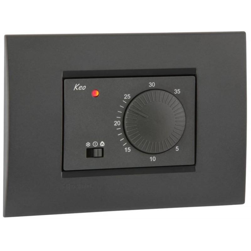Termostato ad Incasso a Corrente Elettrica 230V KEO-A Grigio