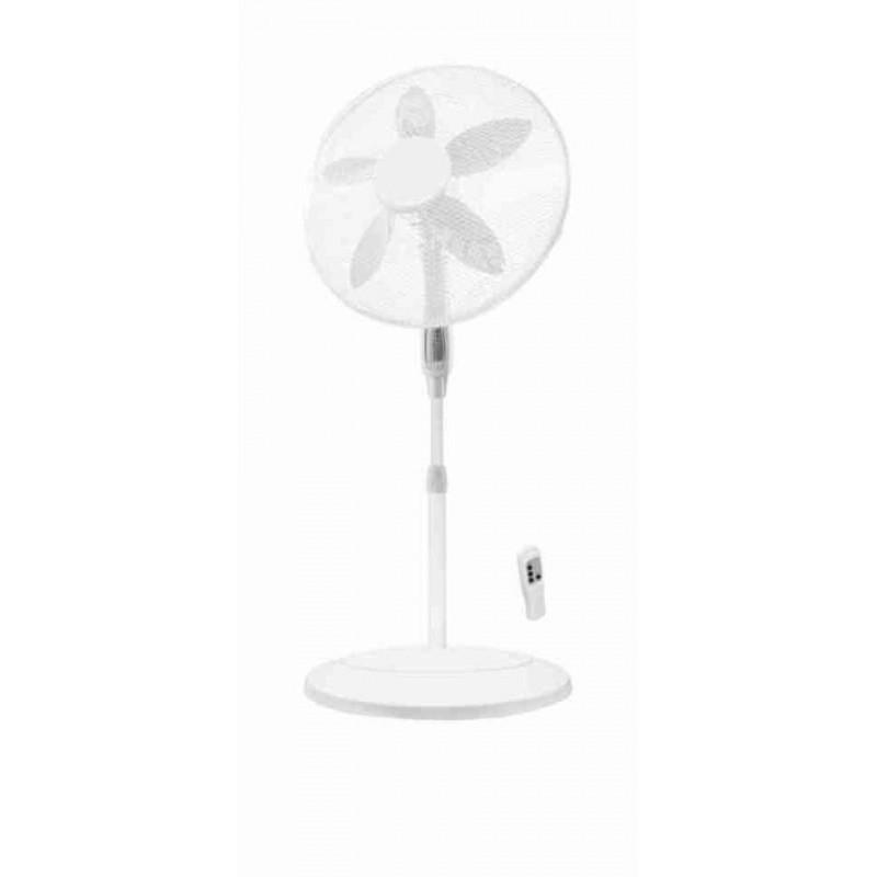 Ventilatore a Piantana Tavolo e Da Parete 3in1 ø 45 Cm 3 Velocità 90 W Cromato