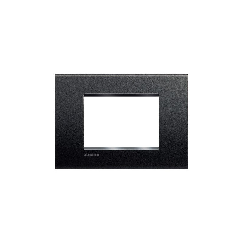 Placca livinglight bticino antracite quadra 3 posti - Interruttori living light ...
