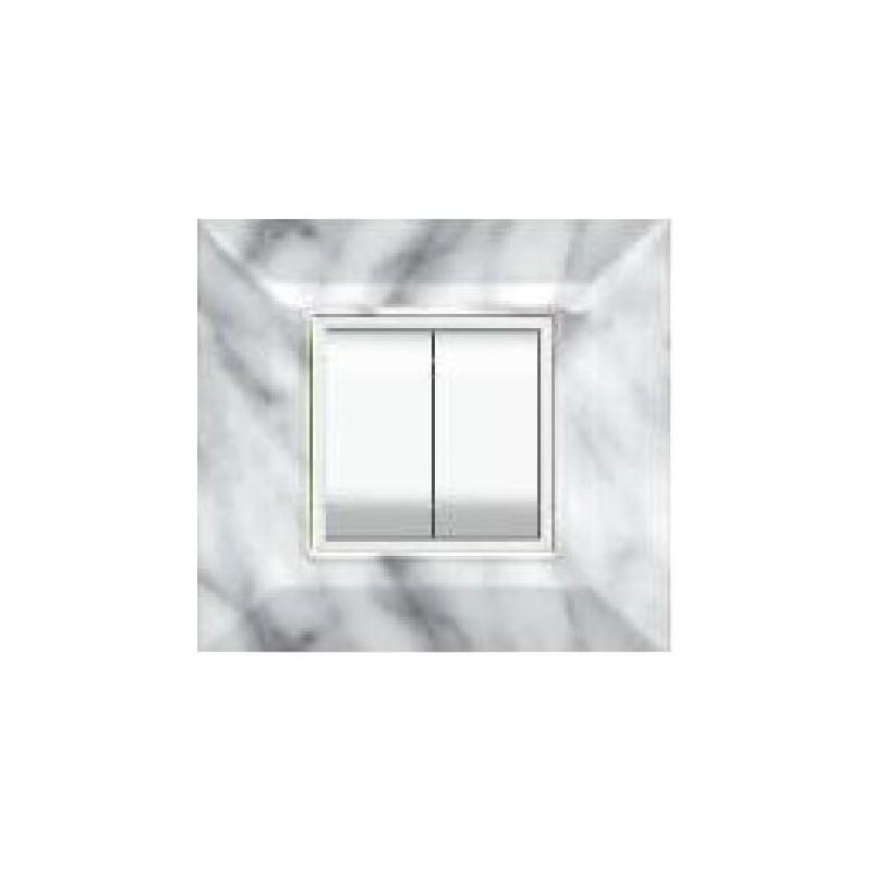 Placca Feb Elettrica Plain Flexì Marmo Carrara 2 Posti Tecnopolimero Abs Prezzo Prezzi