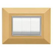 Placca compatibile con la serie di Bticino Axolute, colore sabbia, 3 o 4 posti moduli prezzi prezzo
