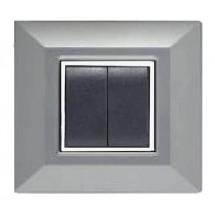Placca Feb Elettrica Plain Flexì Alluminio Chiaro 2 Posti Tecnopolimero Abs Vendita Online On Line