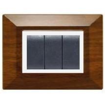 placchette compatibili colore legno scuro 3 o 4 posti, prezzo costo non originali migliori prezzi