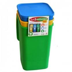 Pattumiera Differenziata Eco Smart Pz 3 L 50 Lega 0408X3