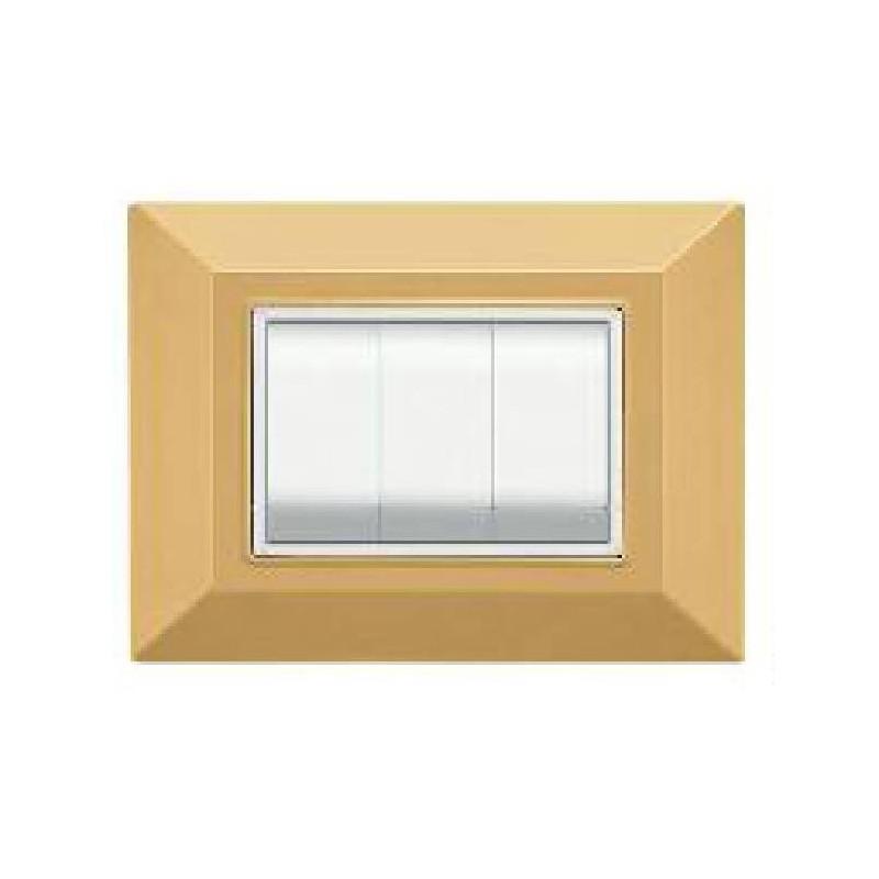 Placca Feb Elettrica Plain Flexì, colore sabbia, 3 o 4 posti moduli prezzi prezzo
