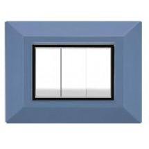 Placche Feb Elettrica Plain Flexì, azzurra, 3 o 4 posti prezzi prezzo on line