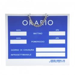 Cartello Orario Apertura Tempopol Rosso Cm 15X11 T00176