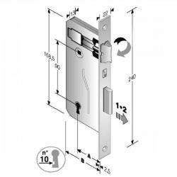 Serratura Patent Mm 8X90 E40 Bq Bronzata Gb 48 040 040 MC