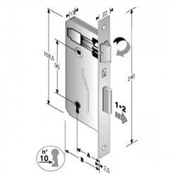 Serratura Patent Mm 8X90 E45 Bq Bronzata Gb 48 040 045 MC