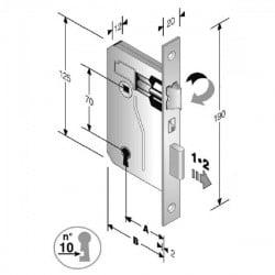 Serratura Patent Mm 8X70 E45 Bq Bronzata Gb 48 042 045 MC
