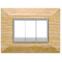 Placchette Feb Elettrica Plain Flexì, colore Legno Sbiancato, 3 o 4 posti prezzo vendita online