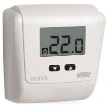 Termostato a Parete Alimentato con Batterie Klima LCD Bianco