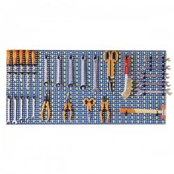 Pannello Forato Acciaio 100X50 Blu Kit 5/619
