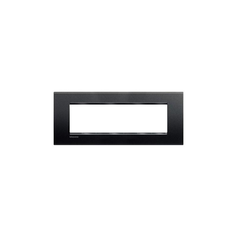 Placca serie Biticino Living Light, colore Antracite, forma rettangolare quadra, codice LNA4807AR, prezzi vendita on line.