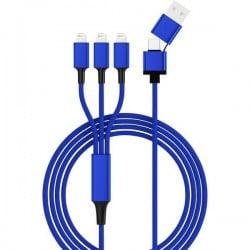 Smrter Usb 2.0 Spina Usb-A, Spina Usb-C™, Connettore Apple Lightning 1.20 M Blu