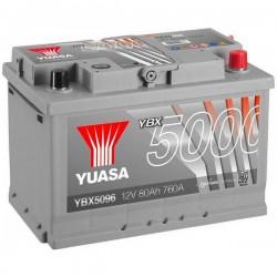 Batteria Per Auto Yuasa Smf Ybx5096 80 Ah T1 Applicazione Celle 0