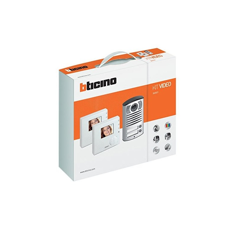 Bticino 365521 kit videocitofono bifamiliare for Citofono bticino prezzo