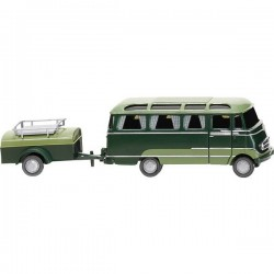 Wiking 026004 H0 Mercedes Benz O 319 Bus Panoramici Con Rimorchio
