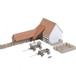 Faller 232371 N Edificio Agricolo Con Accessori Kit Da Montare