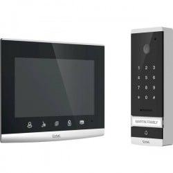 Extel 720309 Kit Completo Video Citofono Cablato Casa Monofamiliare Vetro, Nero