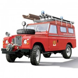 Automodello In Kit Da Costruire Italeri 3660 Land Rover Fire Truck 1:24