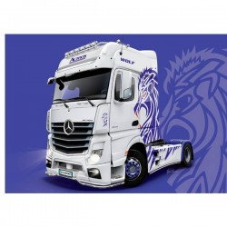 Camion In Kit Da Costruire Italeri 3935 Mb Actros Mp4 Show Gigaspace 1:24