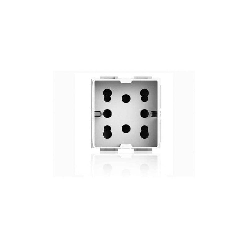 Presa Elettrica 4Box Universale Bipasso Schuko 10/16A 2 Moduli Compatibile  Vimar Plana