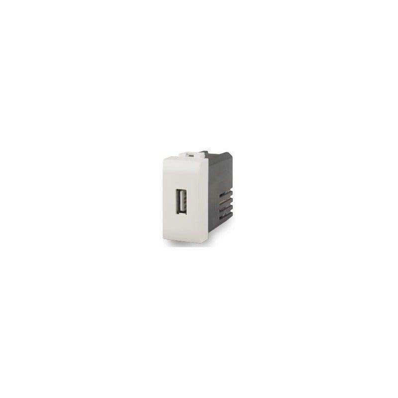 Compatibile Vimar serie Plana 2 uscite Doppia presa USB da muro 2.4 A