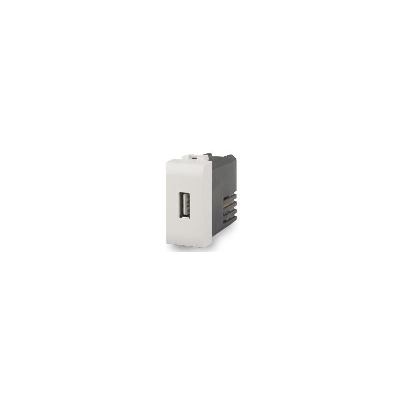 Caricatore USB 4box Compatibile Vimar Plana Bianca 2.1A