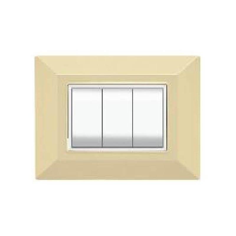 Placca Compatibile Bticino International e Living Light Avorio 3, 4, 7 Posti Tecnopolimero