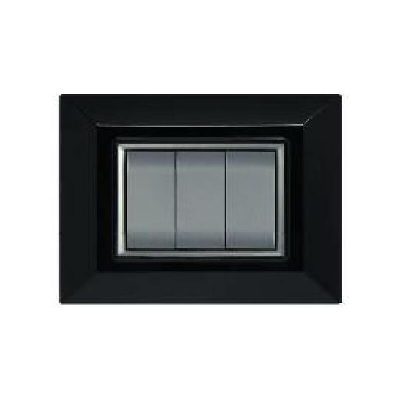 Placca compatibile bticino international living light nera - Interruttori living light ...