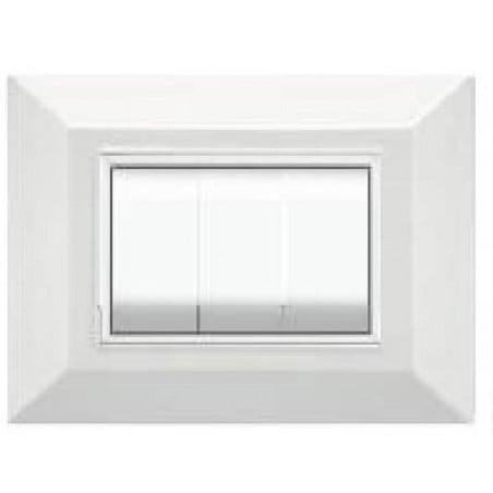 Placca Compatibile Vimar Eikon Plana Bianca 3, 4, 7 Moduli Bianco