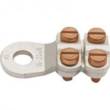 Klauke 584R8 Capocorda ad anello 4 viti Sezione Max 25 mm² Ø foro 8.5 mm Non isolato Metallo 1 pz.