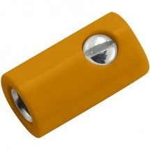 Kahlert Licht Presa da laboratorio in miniatura Presa dritta Ø perno: 2.6 mm Arancione 1 pz.