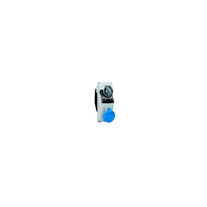 Presa da Parete Modulare Industriale Interbloccata 2P+T IP66/IP67 230V 16A Palazzoli 490126