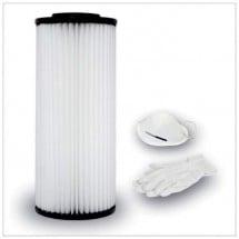 Cartuccia Filtro in Poliestere Lavabile Aspirapolvere Aertecnica CM829 + Mascherina Guanti