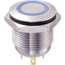 TRU COMPONENTS GQ16F-10E/J/B/12V Pulsante antivandalo 48 V/DC 2 A 1x Off / (On) IP65 Momentaneo 1 pz.