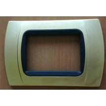 Placca Oro Opaco Compatibile con Bticino International e Living Light 3,4,7 Posti