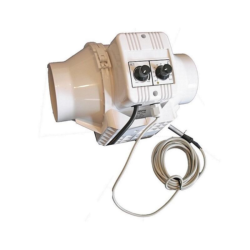 Vents Tt125 con Regolatore di Temperatura e Velocità Minima Cablato Ø125Mm Max 280 Mc/H