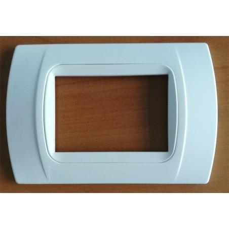 Placca Bianco Compatibile con Bticino International, LivingLight, 3, 4, 7 Posti