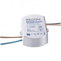 Fonte di alimentazione costante LED 20 W 1050 mA 19 V/DC Recom Lighting RACD20-1050/277 Max. Voltaggio operativo: 277