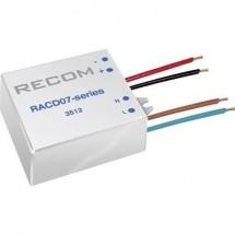 Fonte di alimentazione costante LED 7 W 350 mA 21 V/DC Recom Lighting RACD07-350 Max. Voltaggio operativo: 264 V/AC