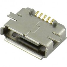 Presa micro USB da circuito stampato Presa orizzontale 207A-ABA0-R Micro USB tipo AB Attend Contenuto: 1 pz.