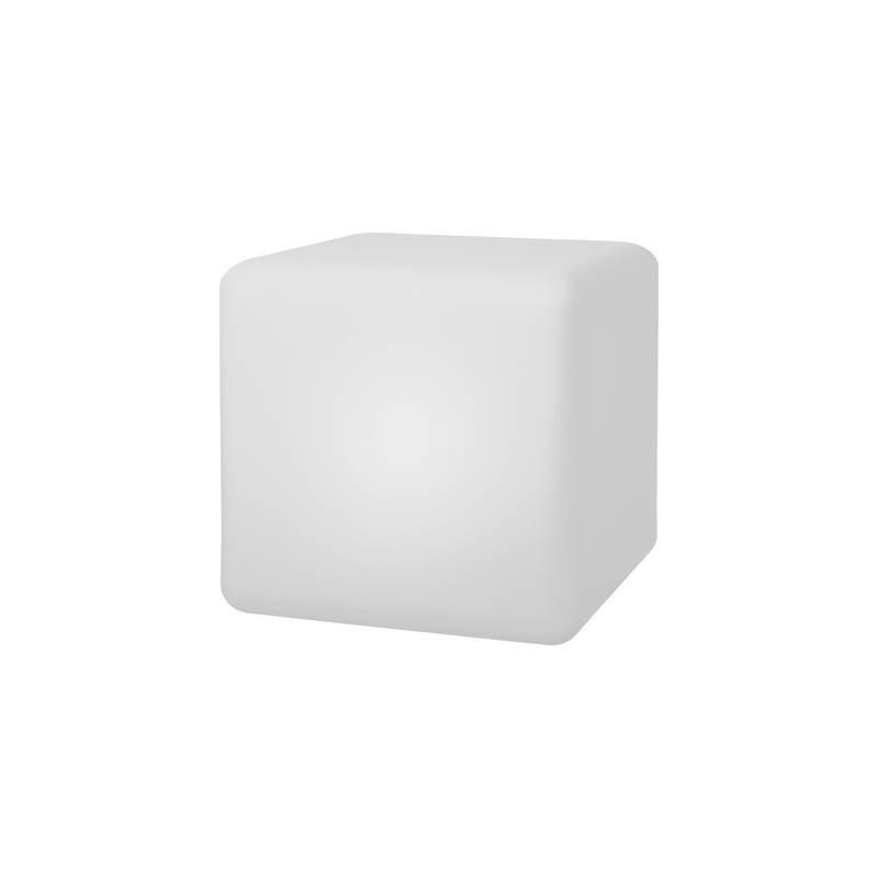 Telefunken Lampada solare da giardino Cube Connectivity T90227 cubo LED 9.6 W RGBW Bianco