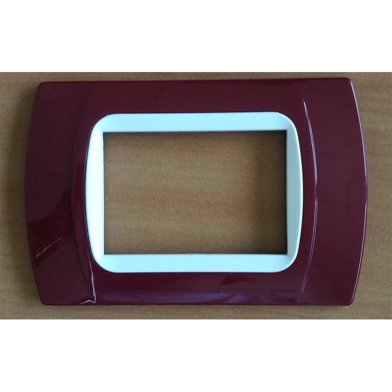 Placca Amaranto Compatibile Bticino International e Living Light 3,4,7 Posti