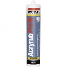 Soudal ACRYRUB PRO W Acrilico Colore Marrone 9202 310 ml