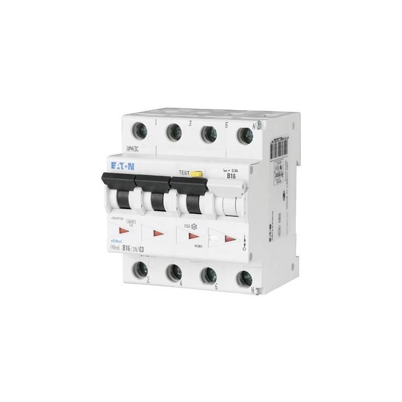 Eaton 170955 Magnetotermico e differenziale 4 poli 10 A 0.3 A 415 V/AC
