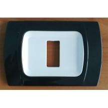 Placca Antracite Metallizzata Compatibile con Bticino Magic 1, 2, 3, 4, 5, 6 Posti