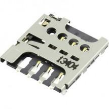 Micro-SIM Zoccolo schede Numero contatti: 6 A pressione, A trazione Attend 115I-AEAA 1 pz.
